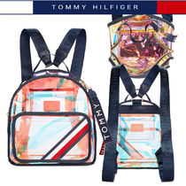 Tommy Hilfiger Stripes Casual Style Plain Crystal Clear Bags PVC Clothing