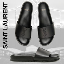 Saint Laurent Street Style Plain Leather Shower Shoes Shower Sandals