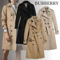 Burberry Casual Style Plain Long Trench Coats