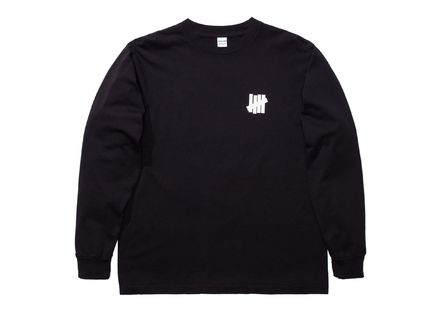 UNDEFEATED Long Sleeve Crew Neck Street Style Long Sleeves Plain Cotton