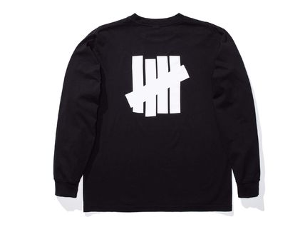 UNDEFEATED Long Sleeve Crew Neck Street Style Long Sleeves Plain Cotton 2