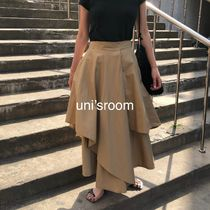 Plain Long Elegant Style Khaki Pants