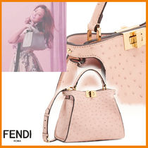 FENDI PEEKABOO Casual Style 2WAY Other Animal Patterns Shoulder Bags