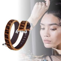FENDI STRAP YOU Leather Elegant Style Watches