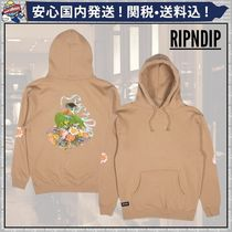 RIPNDIP Flower Patterns Street Style Long Sleeves Cotton Oversized