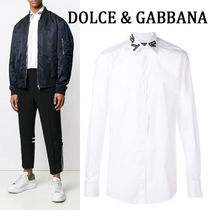 Dolce & Gabbana Long Sleeves Plain Cotton Shirts