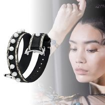 FENDI STRAP YOU Studded Leather Elegant Style Watches
