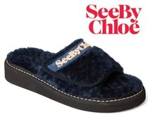 See by Chloe Faux Fur Sandals