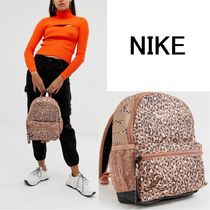 Nike Leopard Patterns Casual Style Backpacks