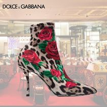 Dolce & Gabbana Flower Patterns Leopard Patterns Pin Heels Elegant Style