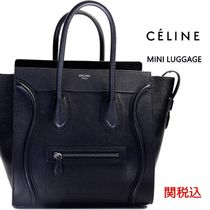 CELINE Luggage Calfskin A4 Totes