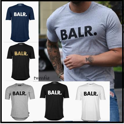 BALR Crew Neck Crew Neck Street Style Cotton Short Sleeves