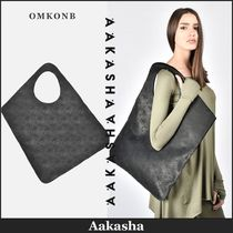 Aakasha Casual Style Plain Other Animal Patterns Leather Handbags
