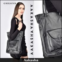 Aakasha Casual Style Leather Totes