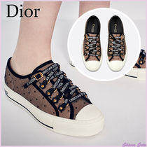 Christian Dior Dots Rubber Sole Lace-up Casual Style Plain Low-Top Sneakers
