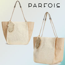 PARFOIS Blended Fabrics Straw Bags