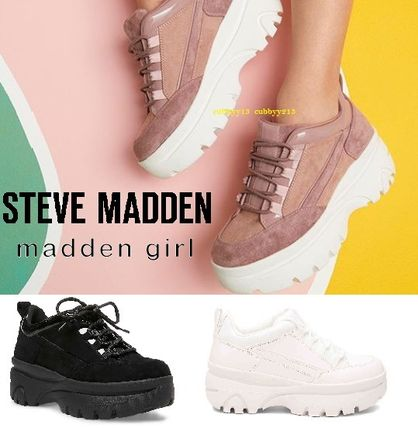 Casual Style Suede Plain Low-Top Sneakers