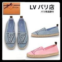 Louis Vuitton Round Toe Rubber Sole Casual Style Handmade