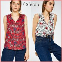 Sfera Flower Patterns Casual Style Sleeveless Tanks & Camisoles