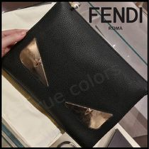 FENDI BAG BUGS Calfskin Bag in Bag Plain Clutches