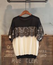 Casual Style Blended Fabrics Street Style U-Neck Bi-color