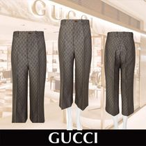 GUCCI Monogram Cotton Medium Elegant Style Culottes & Gaucho Pants