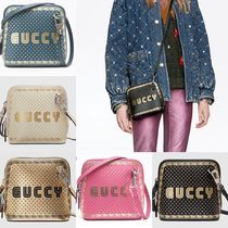 GUCCI Leather Elegant Style Shoulder Bags