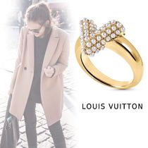 Louis Vuitton ECCENSIAL V ELEGANT RING gold S-L ring