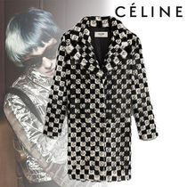 CELINE Other Check Patterns Blended Fabrics Studded Street Style