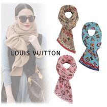 Louis Vuitton 2019-20AW MONOGRAM STOLE beige blue rose