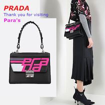 PRADA ELEKTRA Calfskin Studded 2WAY Handbags