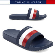 Tommy Hilfiger Stripes Street Style Shower Shoes PVC Clothing