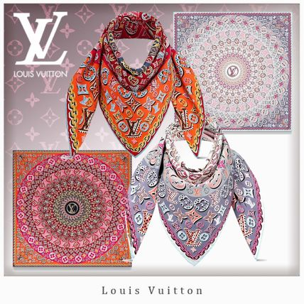 f2602e4e85d5b ... Louis Vuitton Lightweight Unisex Silk Lightweight Scarves   Shawls ...