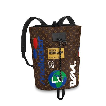 Louis Vuitton Backpacks Monogram Canvas Blended Fabrics Street Style A4 2WAY 6