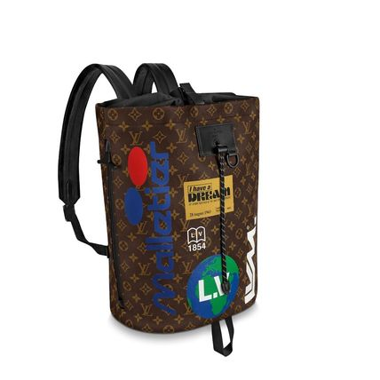 Louis Vuitton Backpacks Monogram Canvas Blended Fabrics Street Style A4 2WAY 8