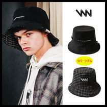WV PROJECT Unisex Street Style Oversized Bucket Hats Wide-brimmed Hats