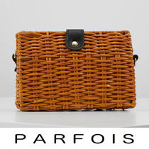 PARFOIS Casual Style Blended Fabrics 2WAY Shoulder Bags