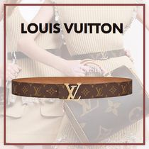 Louis Vuitton MONOGRAM Monogram Blended Fabrics Bi-color Elegant Style Belts