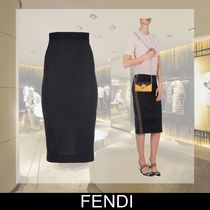 FENDI Pencil Skirts Plain Medium Midi Skirts