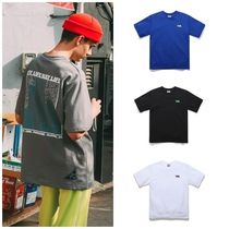PUNCHLINE Unisex Street Style Cotton Short Sleeves Oversized T-Shirts