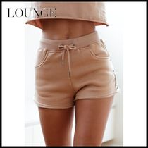 LOUNGE Short Casual Style Cotton Denim & Cotton Shorts
