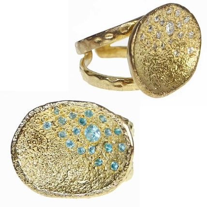 Costume Jewelry Studded Brass With Jewels Rings