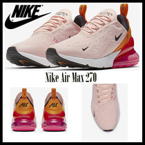 Nike AIR MAX 270 Rubber Sole Casual Style Unisex Street Style Bi-color