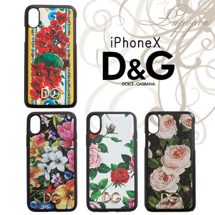 Flower Patterns Leather Smart Phone Cases