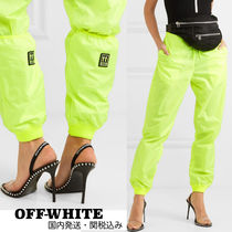 Off-White Casual Style Street Style Plain Long Pants