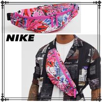 Nike Flower Patterns Street Style Hip Packs