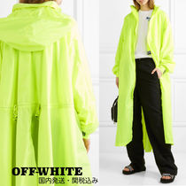 Off-White Casual Style Street Style Plain Long Oversized Coats