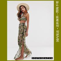 SOUTH BEACH Casual Style Other Animal Patterns Wide Leg Pants