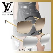 Louis Vuitton Unisex Blended Fabrics Studded Square Sunglasses