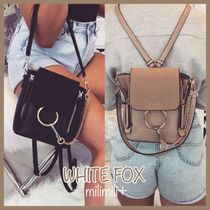WHITE FOX Casual Style Tassel 3WAY Plain Backpacks